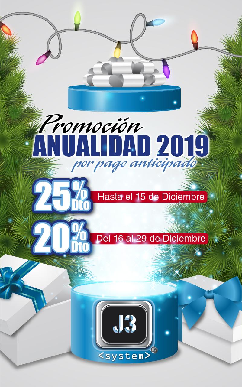 25% Descuento anualidad 2019